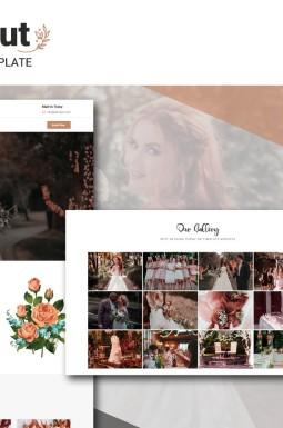 Адаптивный HTML шаблон №104987 на тему свадебный салон