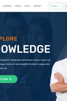 Адаптивный HTML шаблон №137973 на тему колледж и университет