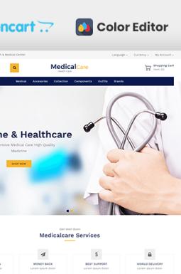 Адаптивный OpenCart шаблон №139951 на тему медицинское оборудование