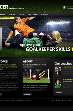 Адаптивный HTML шаблон №39454 на тему футбол