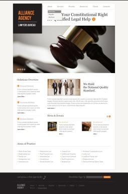 Адаптивный HTML шаблон №40034 на тему юридическая фирма