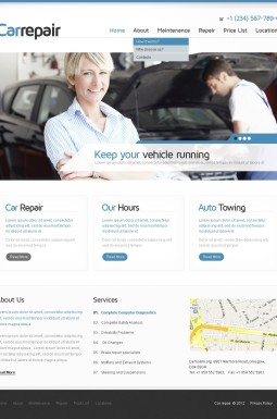HTML шаблон №40041 на тему ремонт авто