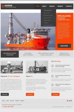 HTML шаблон №40044 на тему строительные компании