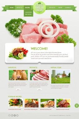 HTML шаблон №40047 на тему скотоводчество