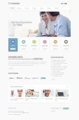 Адаптивный HTML шаблон №40086 на тему бизнес и услуги