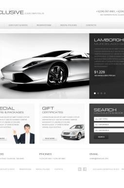 HTML шаблон №40140 на тему прокат авто