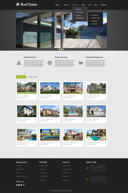 Адаптивный HTML шаблон №40236 на тему агентство недвижимости