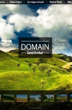HTML шаблон №40319 на тему земельный брокер