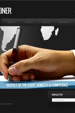 HTML шаблон №40599 на тему юридическая фирма