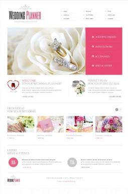HTML шаблон №40649 на тему организация свадьбы