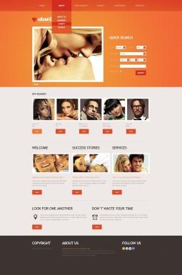 HTML шаблон №40702 на тему сайт знакомств
