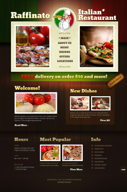 HTML шаблон №40705 на тему итальянский ресторан