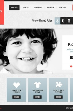 HTML шаблон №40895 на тему благотворительность