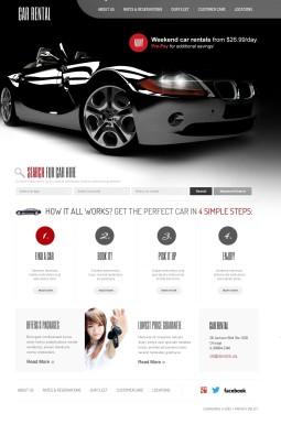HTML шаблон №41070 на тему прокат авто
