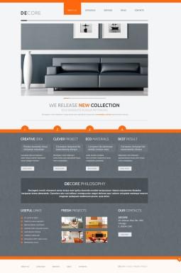 Joomla шаблон №41246 на тему домашний декор