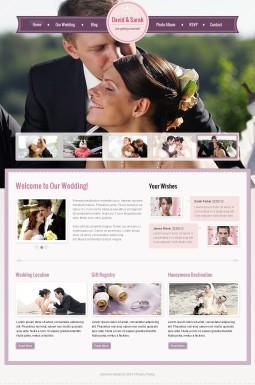 HTML шаблон №41282 на тему свадьба