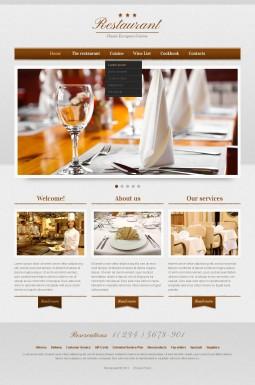 Адаптивный HTML шаблон №41288 на тему кафе и ресторан