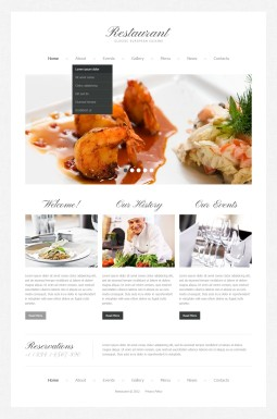 Адаптивный HTML шаблон №41404 на тему кафе и ресторан