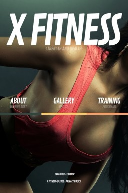 HTML шаблон №41675 на тему фитнес