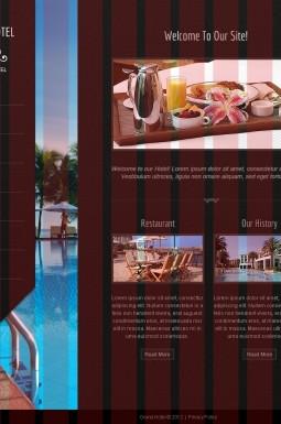 HTML шаблон №41680 на тему отели