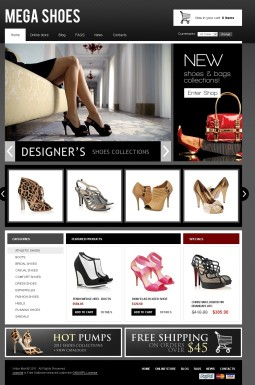 VirtueMart шаблон №41803 на тему магазин обуви