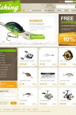 VirtueMart шаблон №41804 на тему рыбалка