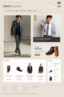 VirtueMart шаблон №41806 на тему мода