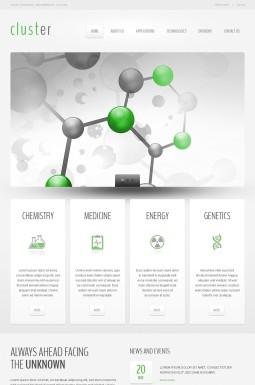 Адаптивный HTML шаблон №41834 на тему научная лаборатория