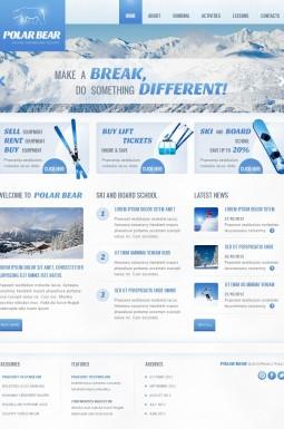 HTML шаблон №41939 на тему катание на лыжах