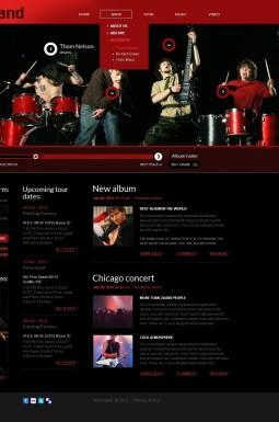 HTML шаблон №41992 на тему музыкальная группа