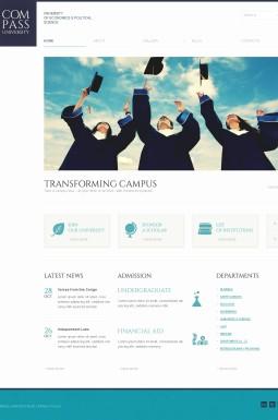 Адаптивный WordPress шаблон №42116 на тему университет