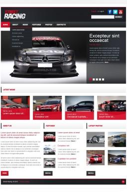 Адаптивный HTML шаблон №42121 на тему автогонки