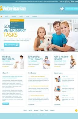 Адаптивный HTML шаблон №42123 на тему ветеринария