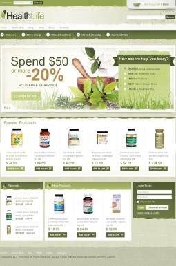 VirtueMart шаблон №42142 на тему аптека