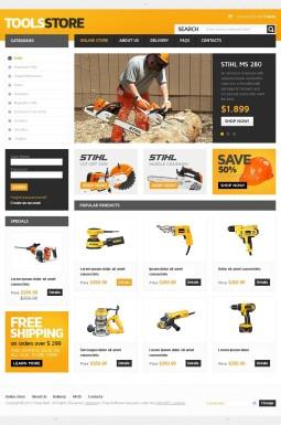 VirtueMart шаблон №42144 на тему инструменты и оборудование