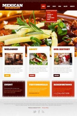 HTML шаблон №42181 на тему мексиканский ресторан