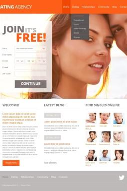HTML шаблон №42519 на тему сайт знакомств