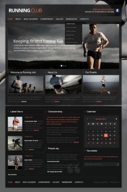 HTML шаблон №42520 на тему бег