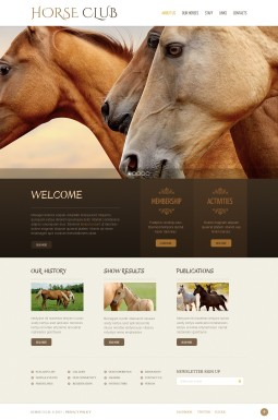 HTML шаблон №42521 на тему лошади