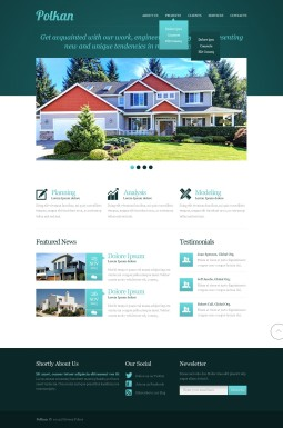 Адаптивный HTML шаблон №42556 на тему агентство недвижимости