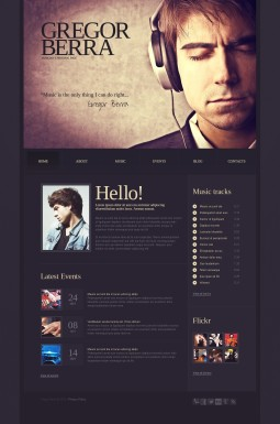 HTML шаблон №42833 на тему певец