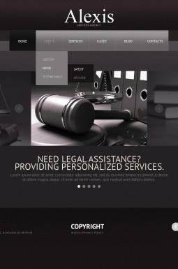 HTML шаблон №42894 на тему юридическая фирма