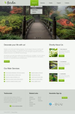 Адаптивный HTML шаблон №42981 на тему садовый дизайн
