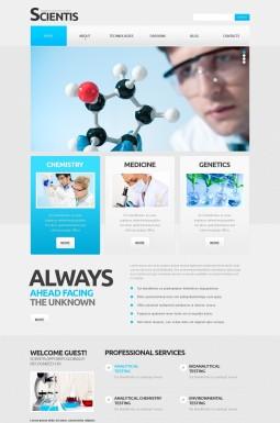 Адаптивный HTML шаблон №43090 на тему наука