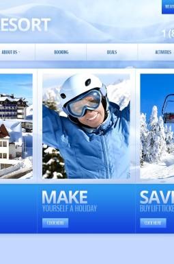 HTML шаблон №43174 на тему катание на лыжах
