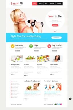 Адаптивный HTML шаблон №43360 на тему похудение