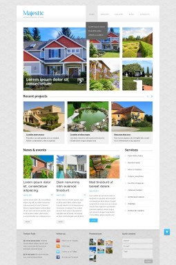 WordPress шаблон №43364 на тему дизайн экстерьера