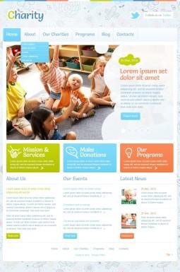 Адаптивный WordPress шаблон №43375 на тему благотворительность
