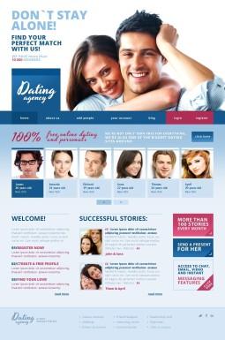 Адаптивный HTML шаблон №43380 на тему сайт знакомств