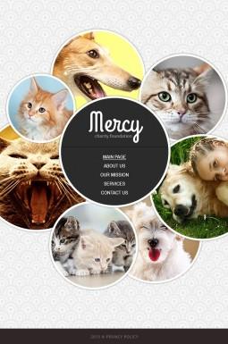 HTML шаблон №43558 на тему приют для животных